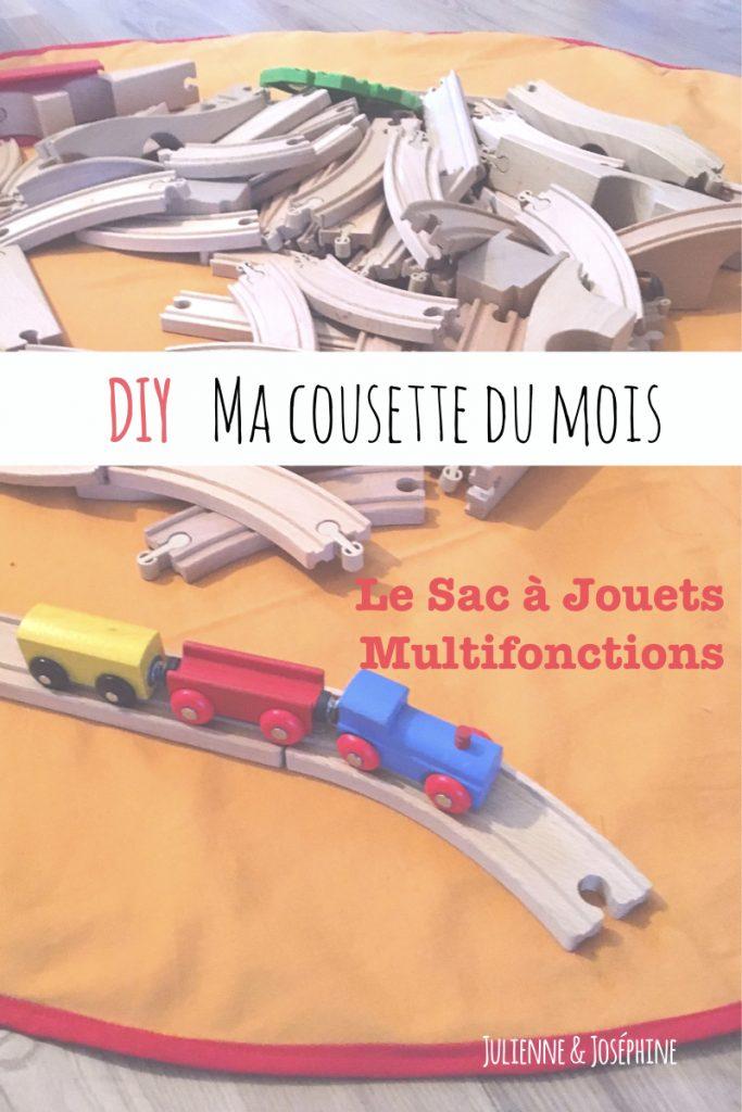 tutoriel de couture destiné à créer un sac multifonctions pratique pour ranger les jouets des enfants et également servir de tapis de jeu
