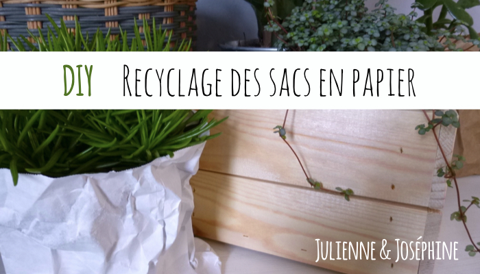 tutoriel permettant de créer une déco printanière dans votre cuisine et de recycler vos sacs shopping en papier kraft
