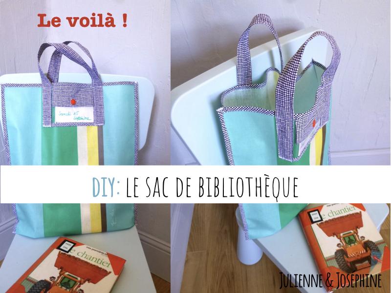 tutoriel pour vous aider à coudre vous-même un sac pour les enfants , très pratique pour aller à la bibliothèque bookbag
