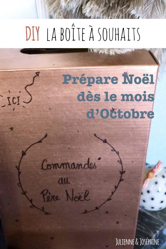 tutoriel pour fabriquer une boîte permettant de recueillir les commandes et souhaits pour Noêl