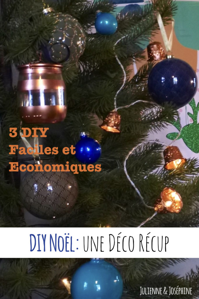 3 idées et tutoriels de décoration pour Noël à base de matériel récupéré.
