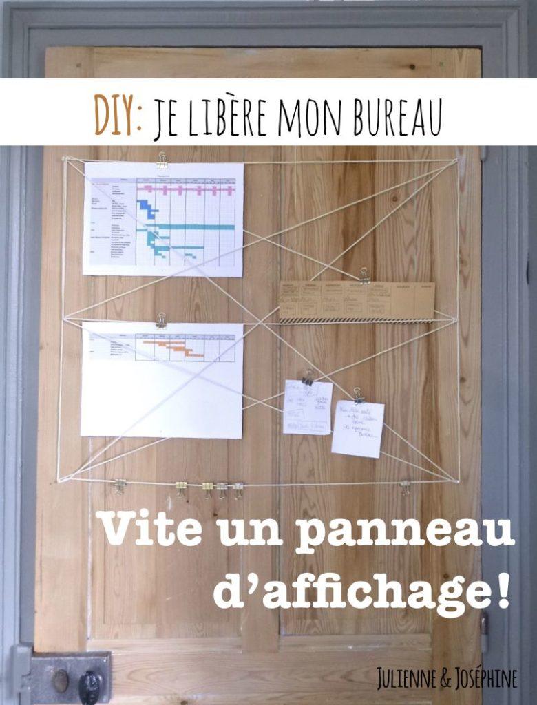 La solution pour libérer ton bureau qui croule sous les petits papiers: le tableau d'affichage facile, efficace, esthétique, rapide et en plus économique.