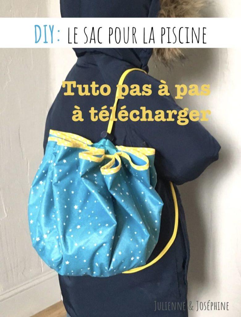 fabrique ton sac pour la piscine avec mon Tuto pas à pas à télécharger